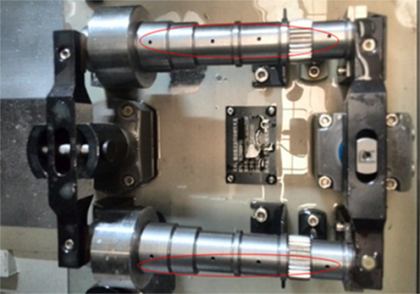 Gear shaft in clamping