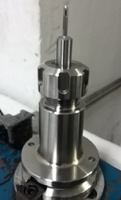 SNAP tool in collet