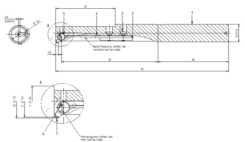 Tool drawing COFA-X