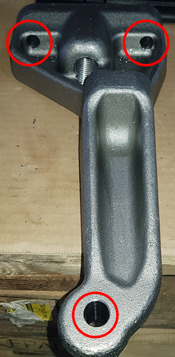 Application trailer hitch fastening
